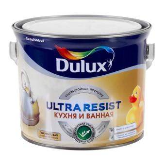 Краска для ванны и кухни Dulux Ultra Resist полуматовая BW 2.5 л