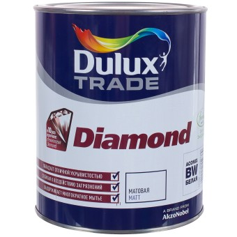 Краска Dulux Trade Diamond Matt BW 1 л