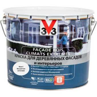 Краска для деревянных фасадов и интерьеров V33 База С 9 л