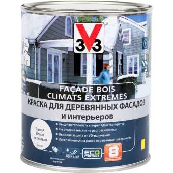 Краска для деревянных фасадов и интерьеров V33 База А 1 л