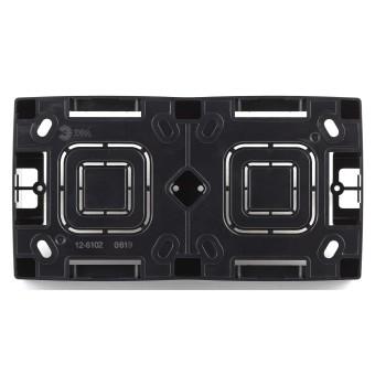 Коробка накладного монтажа Эра 12 2 поста черный