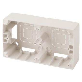 Коробка накладного монтажа Эра 12 2 поста слоновая кость