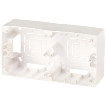Коробка накладного монтажа Эра 12 2 поста перламутр