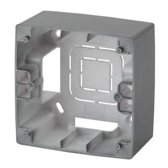 Коробка накладного монтажа Эра 12 1 пост графит