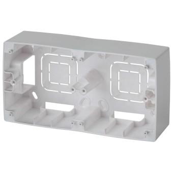 Коробка накладного монтажа Эра 12 2 поста алюминий