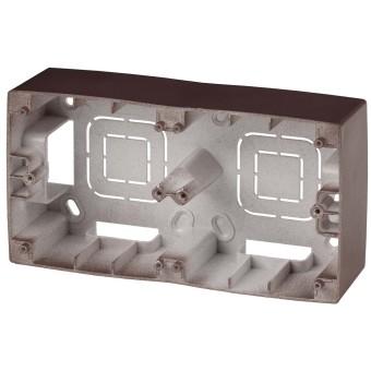 Коробка накладного монтажа Эра 12 2 поста бронза