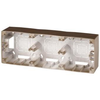 Коробка накладного монтажа Эра 12 3 поста бронза