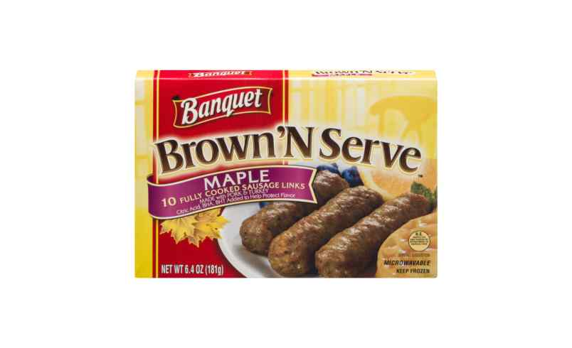 N Serve Sausage Links Maple 10 Ct 6.4OZ