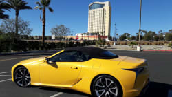 lexus lc 500 yellow car margaritaville