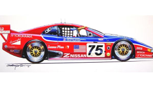 artist Hector Cademartori's rendering of the Nissan 300ZX in full racing apparel