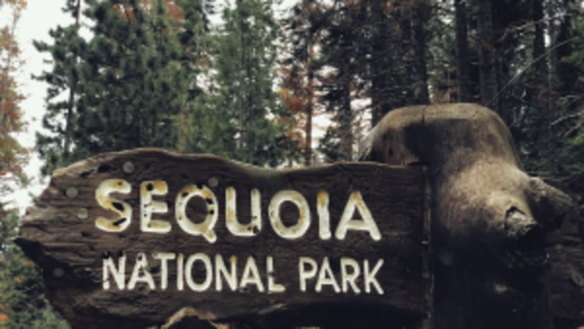 sequoia national park entrance sign