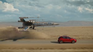 Star Wars ship chasing 2022 Chevy Bolt EUV