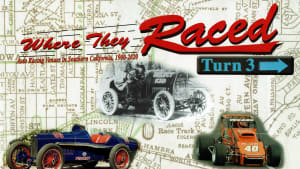 """The front cover of the book """"Where They Raced - Turn 3"""" by Harold Osmer"""
