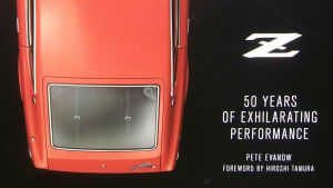 """a portion of the cover of the book """"Nissan Z"""""""