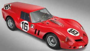 """red breadvan race-car from the cover of the book """"Breadvan - A Ferrari To Beat The GTO"""""""
