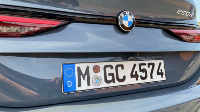 closeup shot of the BMW 2 rear with german license plates.