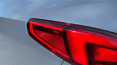 The BMW 2 with the BMW logo inserted into the brake lights