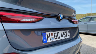 rear of BMW 2 with German plates