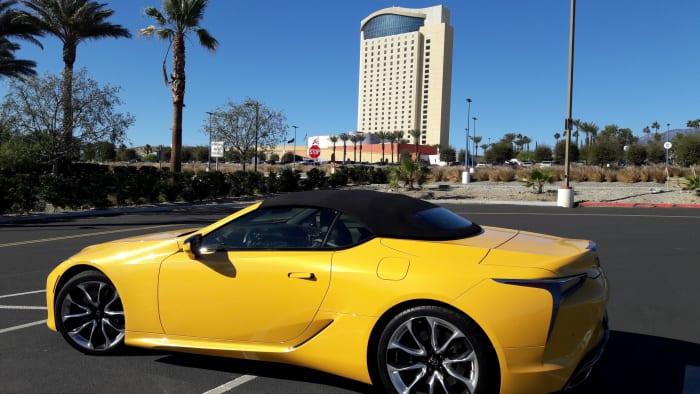 lexus lc 500 yellow car margaritaville
