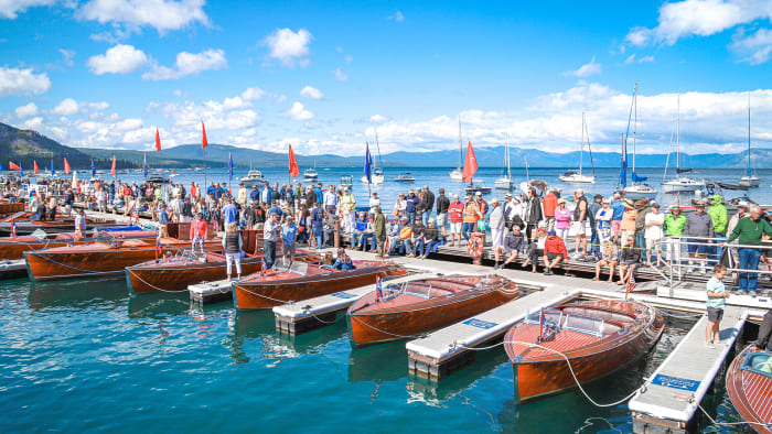 Lake Tahoe Wooden Boat Concours d'Elegance water