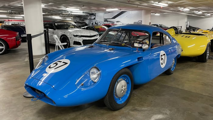 petersen museum new vehicle 1959 Deutsch-Bonnet HBR5 Coupé blue car museum
