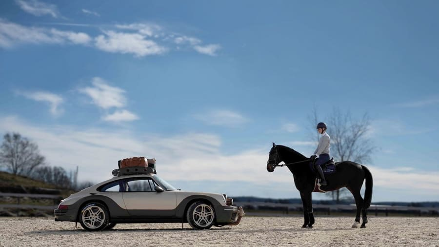RUF Rodeo Concept next to a horse with rider