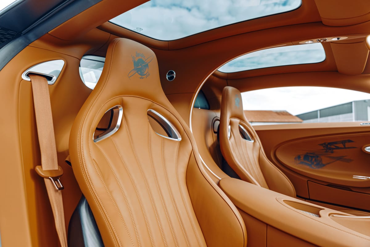 The leather interior is stunning.