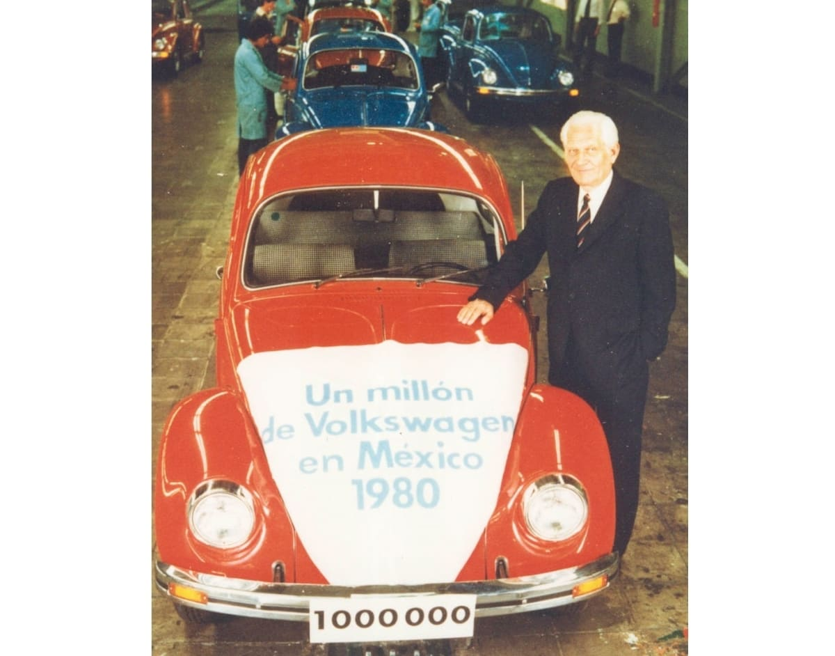 September 12, 1980: This red Beetle marked 1 million produced by the Puebla plant.