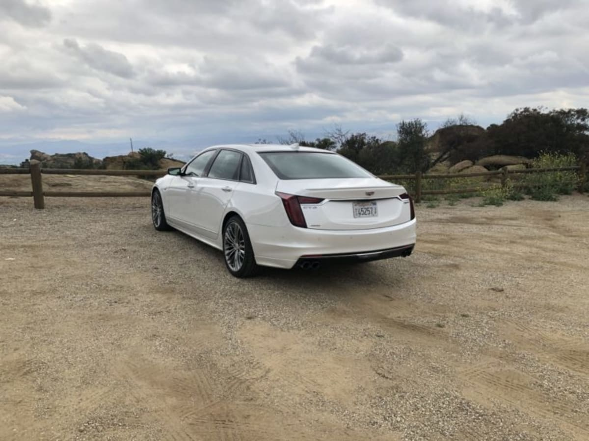 The Cadillac CT6 has an aggressive front styling, yet with a more sophisticated rear end.