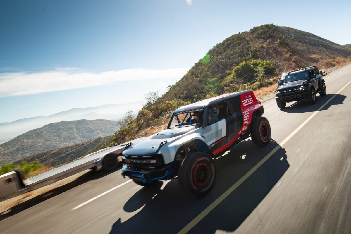 The Ford Bronco R race prototype