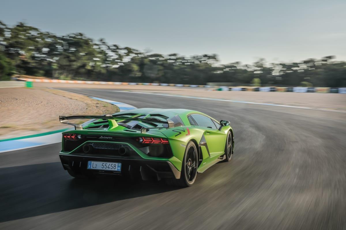 The Lamborghini Aventador SVJ