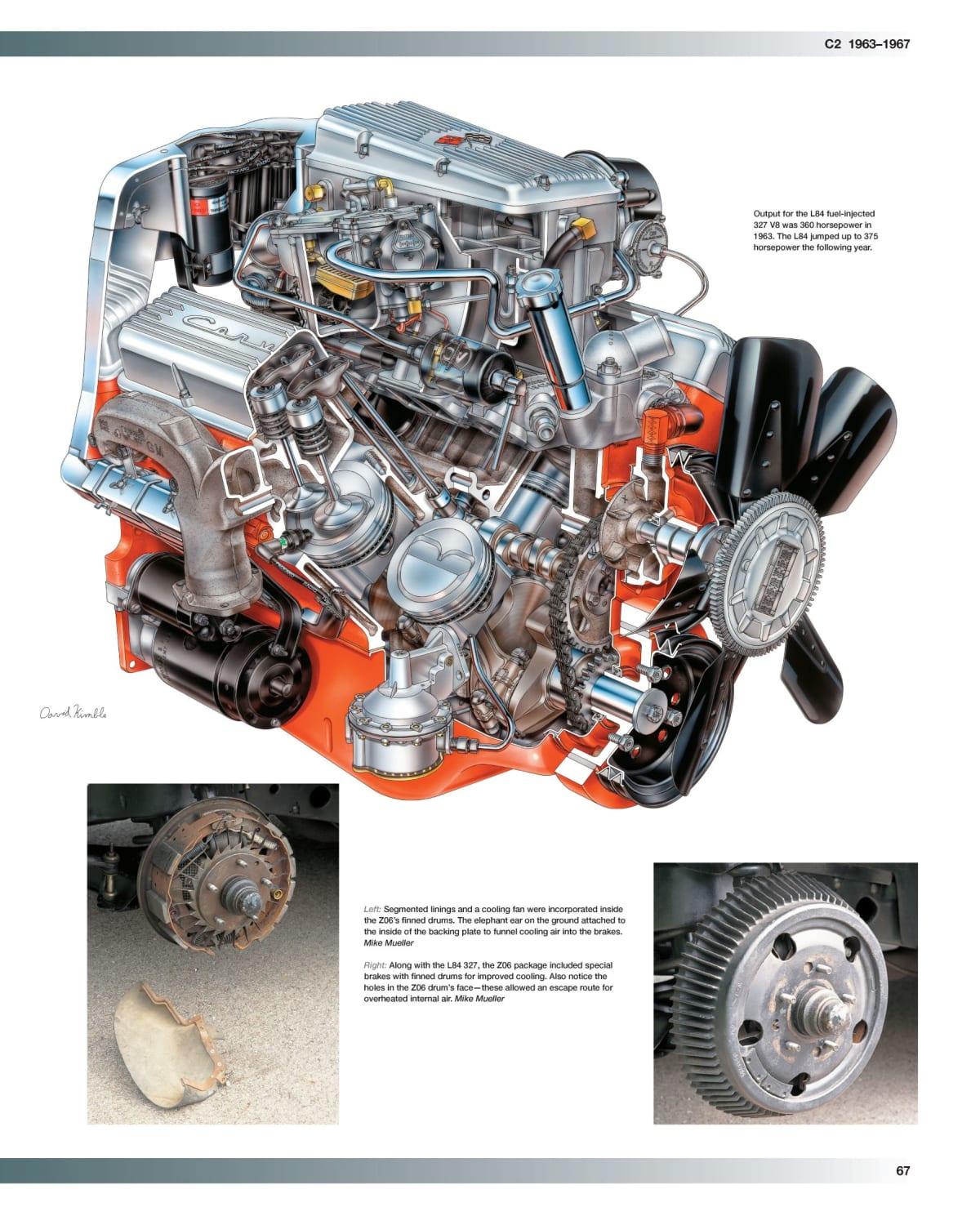 The L84 327 V8. Photo courtesy of Motorbooks, 2020
