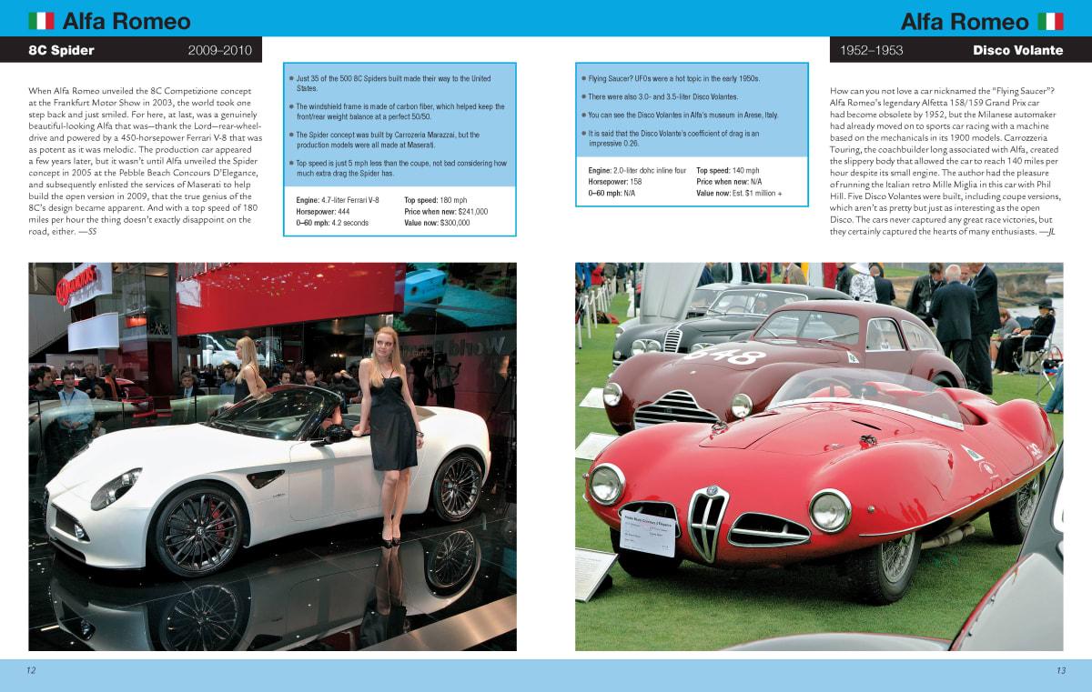 Alfa Romeo 8C Spider and Alfa Romeo Disco Volante insert