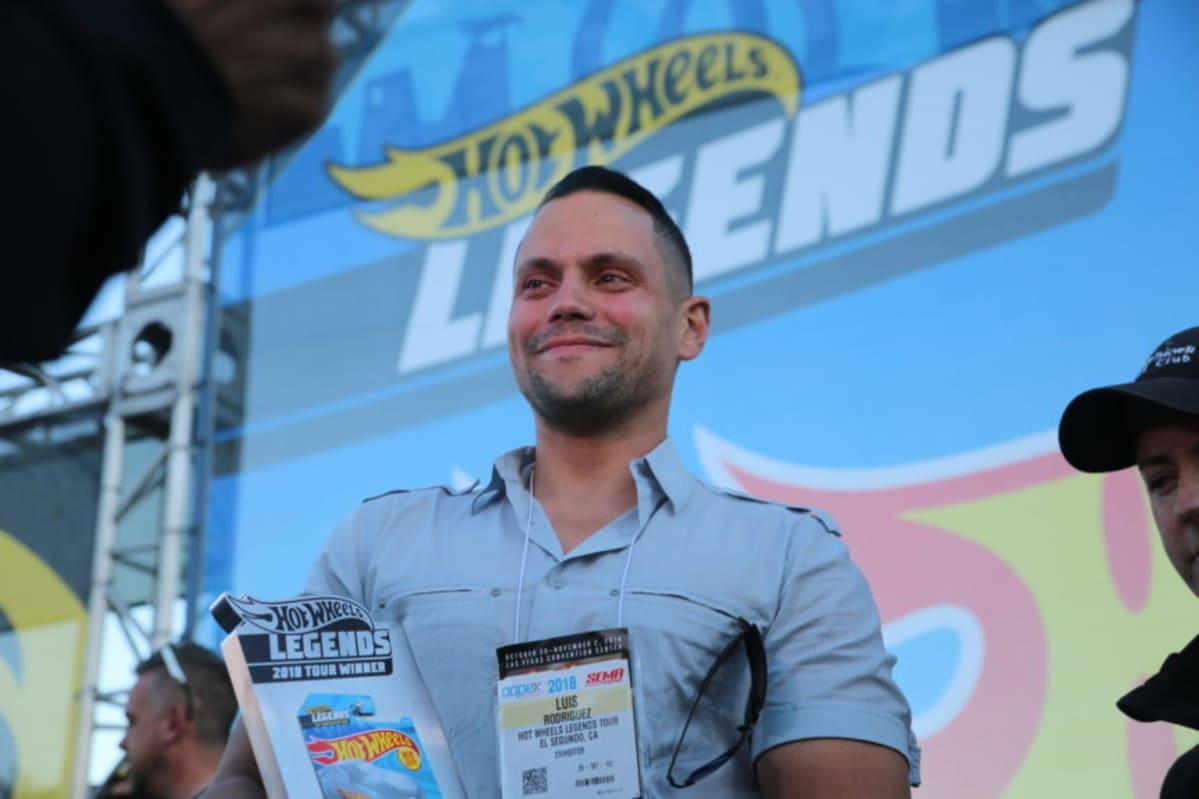 Luis Rodriguez, winner of the Hot Wheels Legends Tour