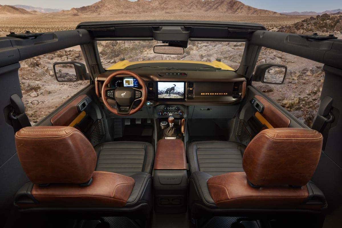 Bronco Two-Door interior
