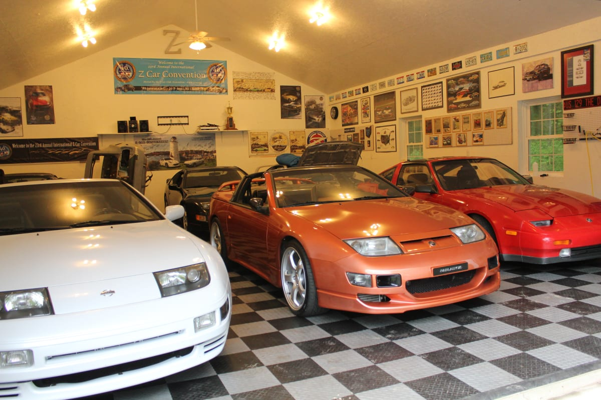 Mr. Karl's Z garage has grown to 10 cars