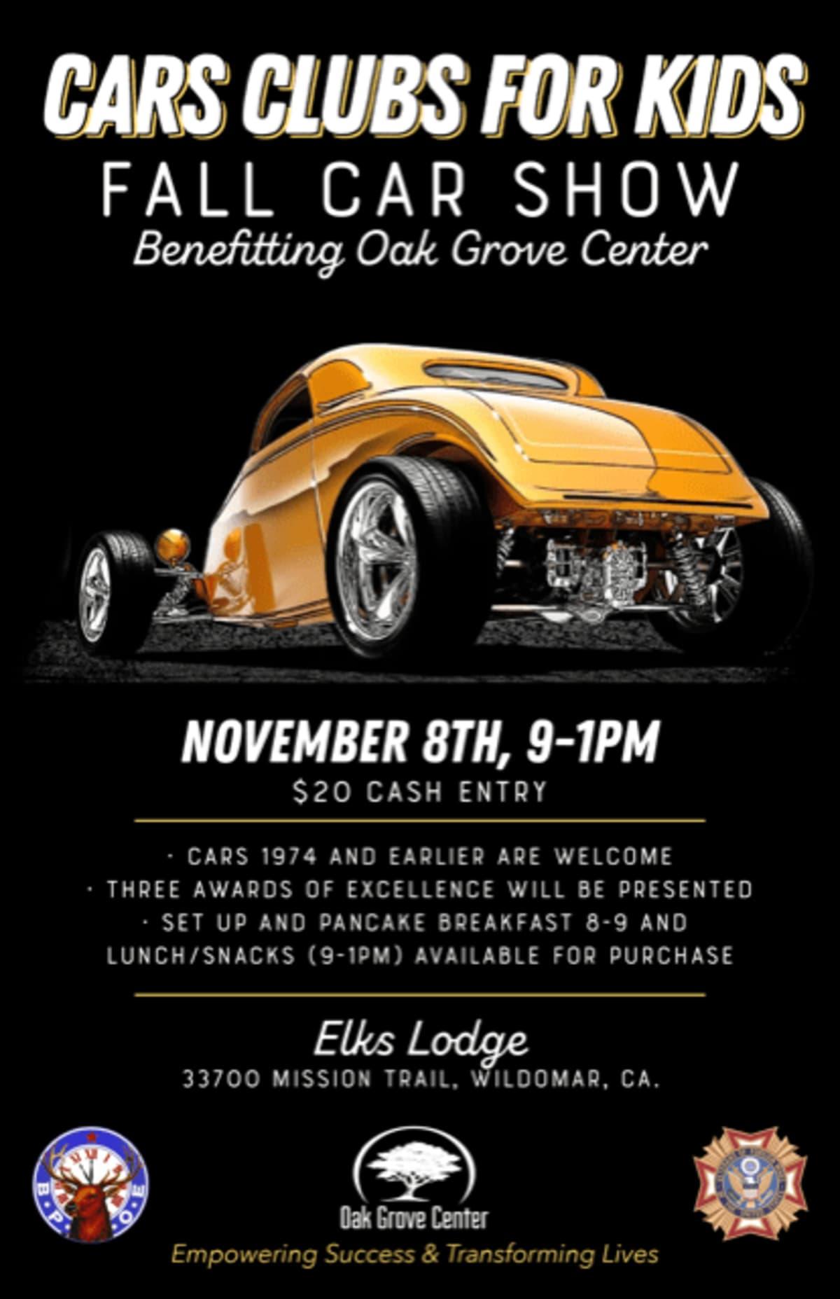 Car Clubs for Kids Fall Car Show
