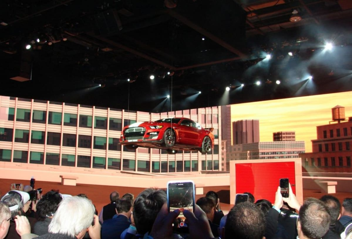 Ford literally drops the 2020 Shelby GT500 from the sky (Mark Dapoz)