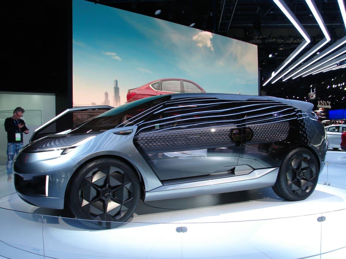 China's Guangzhou Automobile Group (GAC) unveiled the seven-passenger En-tranze Concept EV (Mark Dapoz)