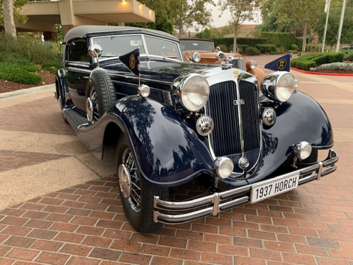 1937 Horch 853 Sports Cabriolet, owned by Aaron Weiss, was awarded Best in Show at the Petersen Concours D'Elegance.