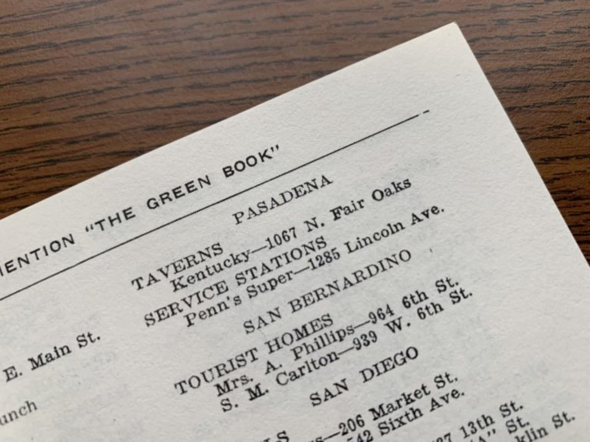 Pasadena, California in the 1940 Edition of the Green Book (Nakano)