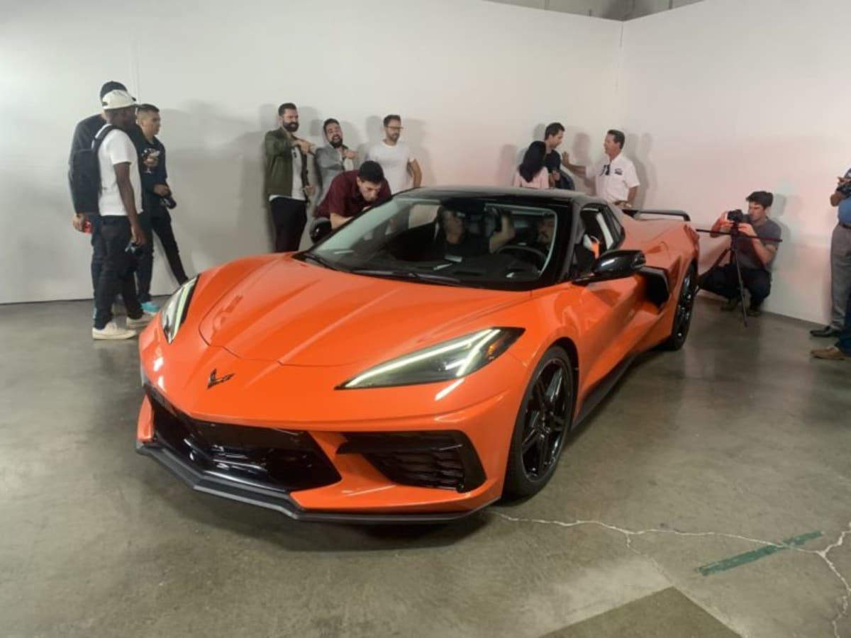 The Corvette Stingray Convertible reveal at The Motoring Club