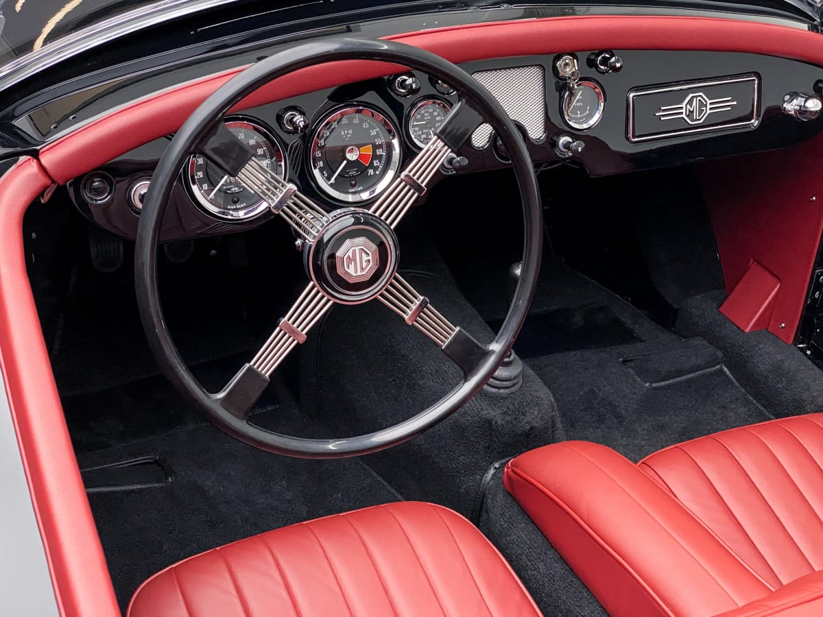 The fully restored 1961 MGA Outlaw will be auctioned by the Petersen Museum on September 26th, 2020.