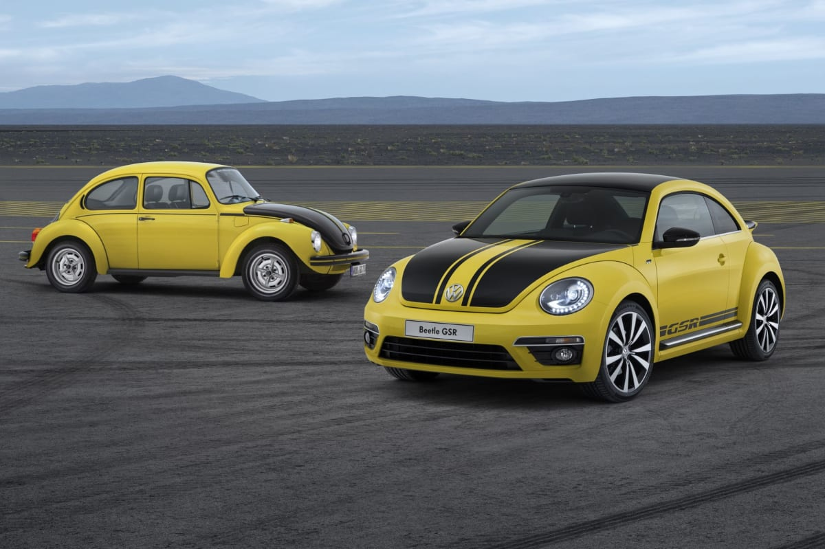 The old and new Beetle GSR