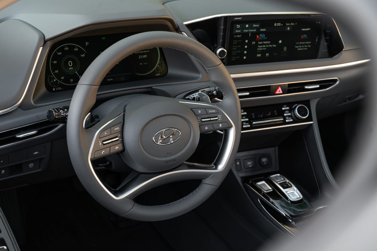 The interior is full of helpful gadgets