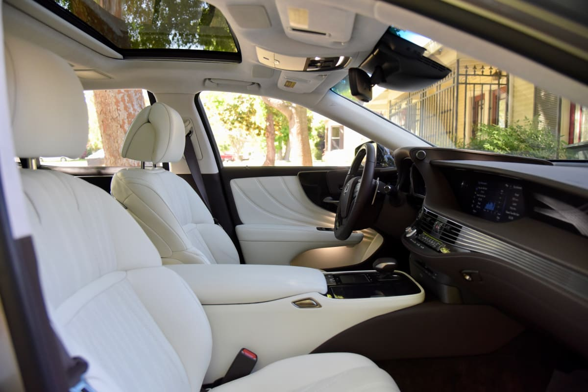 The interior is gorgeous and refined.