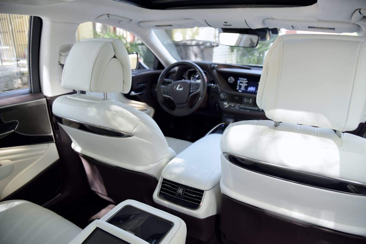 There's plenty of room in the backseat of the Lexus LS 500 4-Door Sedan.