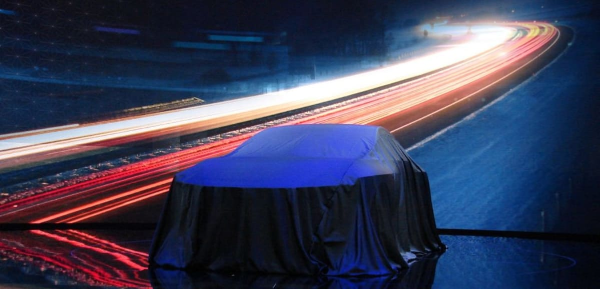 Under wraps at the North American International Auto Show (Mark Dapoz)