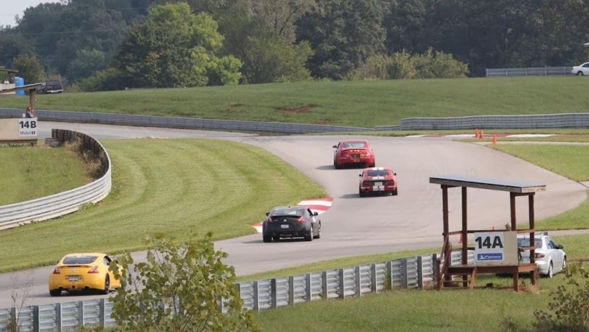 Action at the track. The Corvette Museum in Bowling Green, Kentucky is a splendid scenario for a track day.
