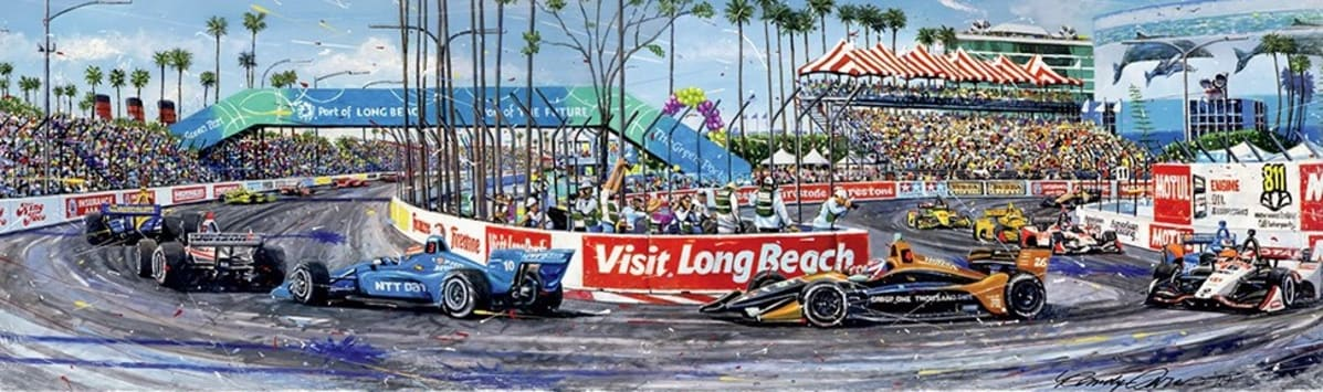 Acura Grand Prix Long Beach poster. Photo courtesy of GPALB